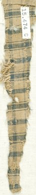 Coptic. <em>Fragment of Plain Cloth Weave</em>, 5th-6th century C.E. Linen, 2 x 9 in. (5.1 x 22.9 cm). Brooklyn Museum, Gift of the Egypt Exploration Fund, 15.474c. Creative Commons-BY (Photo: Brooklyn Museum (in collaboration with Index of Christian Art, Princeton University), CUR.15.474C_ICA.jpg)