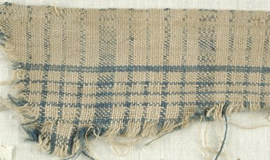 Coptic. <em>Fragment of Plain Cloth Weave</em>, 5th-6th century C.E. Linen, 2 x 10 1/2 in. (5.1 x 26.7 cm). Brooklyn Museum, Gift of the Egypt Exploration Fund, 15.474h. Creative Commons-BY (Photo: Brooklyn Museum (in collaboration with Index of Christian Art, Princeton University), CUR.15.474H_detail01_ICA.jpg)