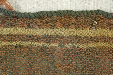 Coptic. <em>Fragment of Tabby Weave</em>, 5th-6th century C.E. Wool, 3 x 6 in. (7.6 x 15.2 cm). Brooklyn Museum, Gift of the Egypt Exploration Fund, 15.475f. Creative Commons-BY (Photo: Brooklyn Museum (in collaboration with Index of Christian Art, Princeton University), CUR.15.475F_detail01_ICA.jpg)