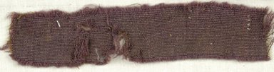 Coptic. <em>Fragment of Tabby Weave</em>, 5th-6th century C.E. Wool, 1 x 7 in. (2.5 x 17.8 cm). Brooklyn Museum, Gift of the Egypt Exploration Fund, 15.475s. Creative Commons-BY (Photo: Brooklyn Museum (in collaboration with Index of Christian Art, Princeton University), CUR.15.475S_ICA.jpg)