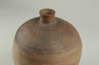 Nubian. <em>Decorated Jar</em>, 3rd-5th century C.E. Clay, paint, 10 5/8 x Diam. 8 15/16 in. (27 x 22.7 cm). Brooklyn Museum, Gift of Mrs. Alfred T. White, 15.490. Creative Commons-BY (Photo: Brooklyn Museum (in collaboration with Index of Christian Art, Princeton University), CUR.15.490_view5_ICA.jpg)