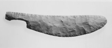 <em>Knife with Re-Entrant Handle</em>, ca. 2800-2675 B.C. Chert, 2 1/2 x 11 7/8 in. (6.4 x 30.2 cm). Brooklyn Museum, Gift of the Egypt Exploration Fund, 15.491. Creative Commons-BY (Photo: Brooklyn Museum, CUR.15.491_NegA_print_bw.jpg)