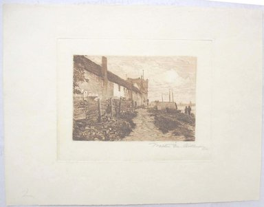 Walter Monteith Aikman (American, 1857-1939). <em>Veere, Holland</em>. Etching, Sheet: 9 1/16 x 11 5/8 in. (23 x 29.5 cm). Brooklyn Museum, Gift of the artist, 15.522.1 (Photo: Brooklyn Museum, CUR.15.522.1.jpg)