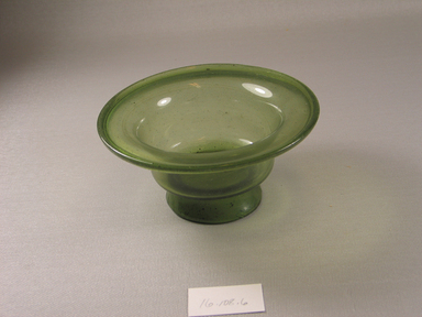Egypto-Roman. <em>Bowl</em>, 4th century C.E. Glass, 2 1/2 x Diam. 4 1/8 in. (6.3 x 10.4 cm). Brooklyn Museum, Gift of Evangeline Wilbour Blashfield, Theodora Wilbour, and Victor Wilbour honoring the wishes of their mother, Charlotte Beebe Wilbour, as a memorial to their father, Charles Edwin Wilbour, 16.108.16. Creative Commons-BY (Photo: Brooklyn Museum, CUR.16.108.16.jpg)