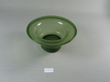 Egypto-Roman. <em>Bowl</em>, 4th century C.E. Glass, 2 9/16 x Diam. 5 5/16 in. (6.5 x 13.5 cm). Brooklyn Museum, Gift of Evangeline Wilbour Blashfield, Theodora Wilbour, and Victor Wilbour honoring the wishes of their mother, Charlotte Beebe Wilbour, as a memorial to their father, Charles Edwin Wilbour, 16.108.6. Creative Commons-BY (Photo: Brooklyn Museum, CUR.16.108.6.jpg)