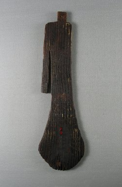 "<em>Female Figure of ""Paddle Doll"" Type</em>, ca. 2008-1630 B.C.E. Wood, pigment, 7 15/16 x 2 5/16 x 3/8 in. (20.1 x 5.9 x 0.9 cm). Brooklyn Museum, Gift of Evangeline Wilbour Blashfield, Theodora Wilbour, and Victor Wilbour honoring the wishes of their mother, Charlotte Beebe Wilbour, as a memorial to their father, Charles Edwin Wilbour, 16.131. Creative Commons-BY (Photo: Brooklyn Museum, CUR.16.131_view2.jpg)"