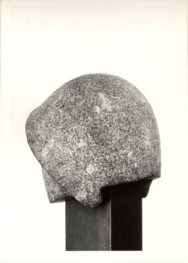 <em>Blue Crown from a Statue</em>, ca. 1352-1336 B.C.E. Granite, 8 1/16 x 7 1/2 x 7 1/2 in. (20.5 x 19 x 19 cm). Brooklyn Museum, Gift of Evangeline Wilbour Blashfield, Theodora Wilbour, and Victor Wilbour honoring the wishes of their mother, Charlotte Beebe Wilbour, as a memorial to their father, Charles Edwin Wilbour, 16.47. Creative Commons-BY (Photo: Brooklyn Museum, CUR.16.47_negD_bw.jpg)