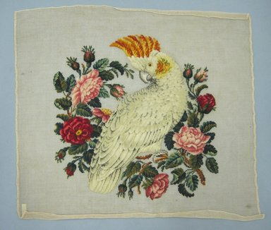 <em>Needlepoint Screen</em>, late 19th century. Wool needlepoint on canvas, 21 1/2 x 20 in. (54.6 x 50.8 cm). Brooklyn Museum, Gift of Miss M. H. Westbrook, 16.566 (Photo: Brooklyn Museum, CUR.16.566.jpg)