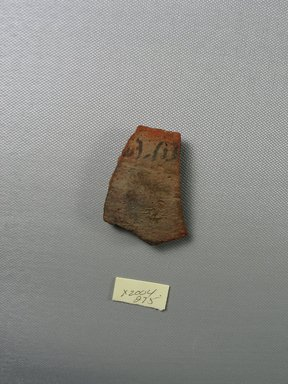 Demotic. <em>Demotic Ostracon</em>. Terracotta, pigment, 1 11/16 x 1/4 x 2 5/16 in. (4.3 x 0.7 x 5.8 cm). Brooklyn Museum, Gift of Evangeline Wilbour Blashfield, Theodora Wilbour, and Victor Wilbour honoring the wishes of their mother, Charlotte Beebe Wilbour, as a memorial to their father, Charles Edwin Wilbour, 16.580.499. Creative Commons-BY (Photo: Brooklyn Museum, CUR.16.580.499_view1.jpg)