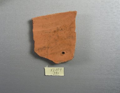 Demotic. <em>Demotic Ostracon</em>. Terracotta, pigment, 2 7/16 x 5/16 x 2 5/8 in. (6.2 x 0.8 x 6.7 cm). Brooklyn Museum, Gift of Evangeline Wilbour Blashfield, Theodora Wilbour, and Victor Wilbour honoring the wishes of their mother, Charlotte Beebe Wilbour, as a memorial to their father, Charles Edwin Wilbour, 16.580.509. Creative Commons-BY (Photo: Brooklyn Museum, CUR.16.580.509_view1.jpg)