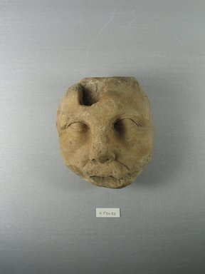 Graeco-Egyptian. <em>Fragmentary Face</em>, 145-30 B.C.E. Marble, 5 1/16 x 4 13/16 x 3 7/8 in. (12.8 x 12.2 x 9.8 cm). Brooklyn Museum, Gift of Evangeline Wilbour Blashfield, Theodora Wilbour, and Victor Wilbour honoring the wishes of their mother, Charlotte Beebe Wilbour, as a memorial to their father, Charles Edwin Wilbour, 16.580.88. Creative Commons-BY (Photo: Brooklyn Museum, CUR.16.580.88_view1.jpg)