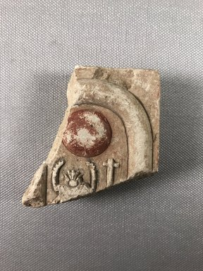 <em>Relief Fragment with Inscription</em>, ca. 1352-1336 B.C.E. Limestone, 2 13/16 x 2 5/8 x 15/16 in. (7.2 x 6.6 x 2.4 cm). Brooklyn Museum, Gift of Evangeline Wilbour Blashfield, Theodora Wilbour, and Victor Wilbour honoring the wishes of their mother, Charlotte Beebe Wilbour, as a memorial to their father, Charles Edwin Wilbour, 16.659. Creative Commons-BY (Photo: , CUR.16.659_view01.jpg)