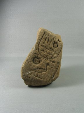 <em>Relief Fragment with Inscription</em>, ca. 1352-1336 B.C.E. Sandstone, 6 × 4 1/2 × 4 15/16 in. (15.2 × 11.4 × 12.5 cm). Brooklyn Museum, Gift of Evangeline Wilbour Blashfield, Theodora Wilbour, and Victor Wilbour honoring the wishes of their mother, Charlotte Beebe Wilbour, as a memorial to their father, Charles Edwin Wilbour, 16.692. Creative Commons-BY (Photo: , CUR.16.692_view01.jpg)