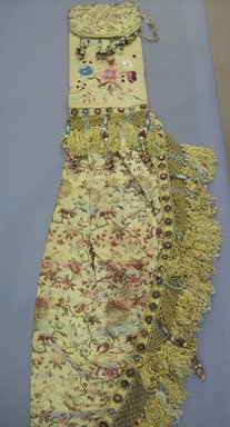 <em>Set of Drapes and Components</em>, early 20th century. Silk, silk embroidery thread, cotton, burlap, wood, a: 24 1/2 x 87 in. (62.2 x 221 cm). Brooklyn Museum, Gift of Frederic B. Pratt, 17004a-bbbb (Photo: Brooklyn Museum, CUR.17004ll.jpg)