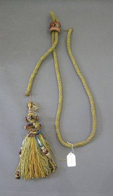 <em>Set of Drapes and Components</em>, early 20th century. Silk, silk embroidery thread, cotton, burlap, wood, a: 24 1/2 x 87 in. (62.2 x 221 cm). Brooklyn Museum, Gift of Frederic B. Pratt, 17004a-bbbb (Photo: Brooklyn Museum, CUR.17004mmm.jpg)