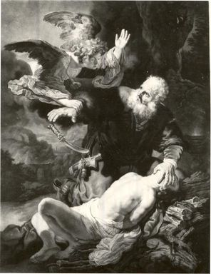 John Murphy (British, 1748-1820). <em>Abraham's Sacrifice</em>, 1781. Mezzotint on laid paper, 50 5/16 x 35 5/16 in. (127.8 x 89.7 cm). Brooklyn Museum, Gift of Mrs. Joseph E. Brown in memory of the late Joseph Epes Brown, 18.125 (Photo: Brooklyn Museum, CUR.18.125.jpg)