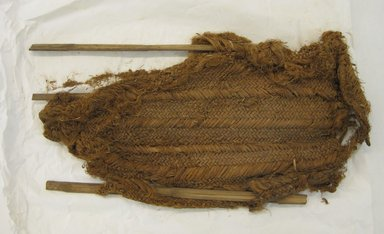 <em>Weaver's Basket, Flattened, Fragment or Workbasket, Fragment</em>, 1000-1400. Cane, grass, 4 3/4 × 1 1/4 × 16 9/16 in. (12 × 3.2 × 42 cm). Brooklyn Museum, Gift of Richard H. Clarke, 1863. Creative Commons-BY (Photo: Brooklyn Museum, CUR.1863.jpg)