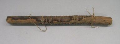 <em>Loom Stick</em>. Wood, camelid fiber., 1 x 1 x 12 1/2 in. (2.5 x 2.5 x 31.8 cm). Brooklyn Museum, Gift of Richard H. Clarke, 1872. Creative Commons-BY (Photo: Brooklyn Museum, CUR.1872.jpg)
