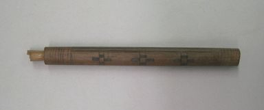 <em>Fragment?, Undetermined or Canes Wrapped with Yarn in Patterns</em>, 1000-1400 (?). Wood, cotton, cane, Longest stick:: 1/2 x 1/2 x 21 1/4 in. (1.3 x 1.3 x 54 cm). Brooklyn Museum, Gift of Richard H. Clarke, 1880. Creative Commons-BY (Photo: , CUR.1880_view01.jpg)