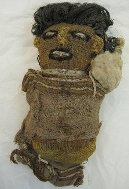 Chancay. <em>Figural Sculpture, possible fragment</em>, 1000-1532. Cotton, bast fiber? Furcraea, 9 1/16 x 5 7/8in. (23 x 15cm). Brooklyn Museum, Gift of Richard H. Clarke, 1883. Creative Commons-BY (Photo: Brooklyn Museum, CUR.1883_front.jpg)
