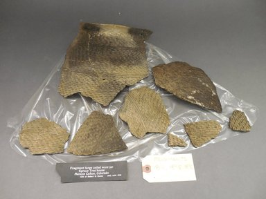 Ancient Pueblo (Anasazi). <em>Jar Fragments</em>. Clay, slip Brooklyn Museum, Gift of Robert G. Eccless, 1892. Creative Commons-BY (Photo: Brooklyn Museum, CUR.1892.jpg)