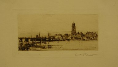 Charles Adams Platt (American, 1861-1933). <em>Deventer</em>, 1885. Etching on white laid paper, Sheet: 4 15/16 x 8 in. (12.5 x 20.3 cm). Brooklyn Museum, Gift of Frank L. Babbott, 19.117 (Photo: Brooklyn Museum, CUR.19.117.jpg)