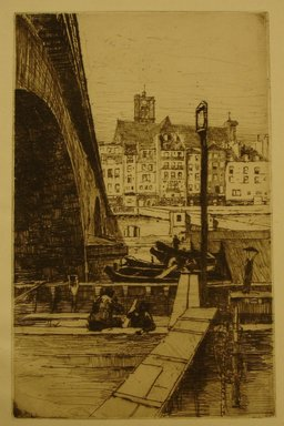 Charles Adams Platt (American, 1861-1933). <em>St. Gervais, Paris</em>, 1887. Etching on laid paper, Sheet: 11 1/4 x 8 13/16 in. (28.6 x 22.4 cm). Brooklyn Museum, Gift of Frank L. Babbott, 19.118 (Photo: Brooklyn Museum, CUR.19.118.jpg)
