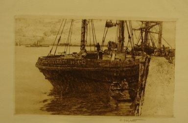 Charles Adams Platt (American, 1861-1933). <em>The Schooner</em>, 19th century. Etching on wove paper, Sheet: 10 5/16 x 13 1/2 in. (26.2 x 34.3 cm). Brooklyn Museum, Gift of Frank L. Babbott, 19.120 (Photo: Brooklyn Museum, CUR.19.120.jpg)