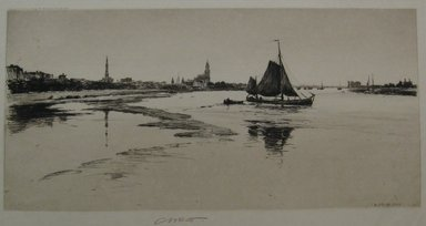 Charles Adams Platt (American, 1861-1933). <em>Arnheim</em>, 1888. Etching on heavy, machine-made Japan paper, Sheet: 17 13/16 x 27 1/16 in. (45.2 x 68.7 cm). Brooklyn Museum, Gift of Frank L. Babbott, 19.133 (Photo: Brooklyn Museum, CUR.19.133.jpg)