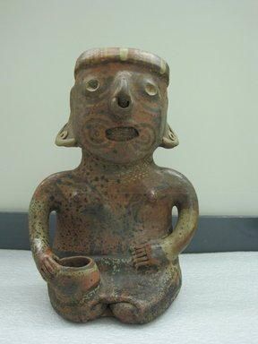 Nayarit. <em>Seated Female Figure</em>, 100 - 400. Ceramic, pigment, 13 1/2 x 9 1/2 x 7 in. (34.3 x 24.1 x 17.8 cm). Brooklyn Museum, The Adolph and Esther D. Gottlieb Collection, 1989.51.65. Creative Commons-BY (Photo: Brooklyn Museum, CUR.1989.51.65_view1.jpg)