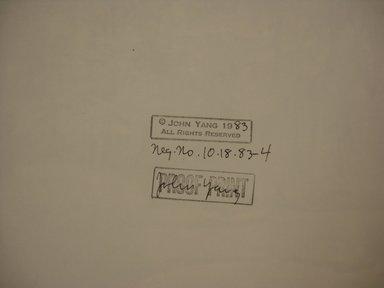 John Yang (American, born China, 1933-2009). <em>Meadow, Innisfree Garden, Millbrook, NY</em>, 1983. Gelatin silver photograph, 10 x 73 3/4 in. Brooklyn Museum, Gift of Marcuse Pfeifer, 1990.119.104. © artist or artist's estate (Photo: Brooklyn Museum, CUR.1990.119.104_verso_detail2.jpg)