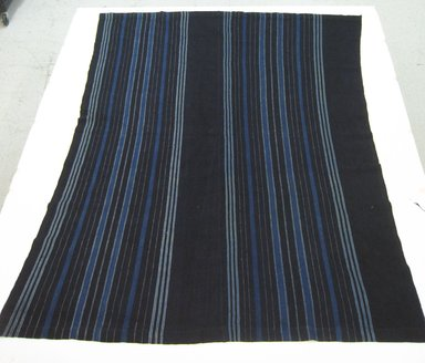 Nupe. <em>Akpara/akwaigbo</em>, 20th century. Handspun cotton, indigo dye, 63 x 82 in. Brooklyn Museum, Purchased with funds given by Frieda and Milton F. Rosenthal, 1990.132.4. Creative Commons-BY (Photo: Brooklyn Museum, CUR.1990.132.4_overall_view1.jpg)