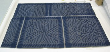 Kalabari Ijo. <em>Pelete Bite</em>, 20th century. Commercial imported madras cotton, 55 x 76 1/2in. (139.7 x 194.3cm). Brooklyn Museum, Purchased with funds given by Frieda and Milton F. Rosenthal, 1990.132.7. Creative Commons-BY (Photo: Brooklyn Museum, CUR.1990.132.7_overall.jpg)