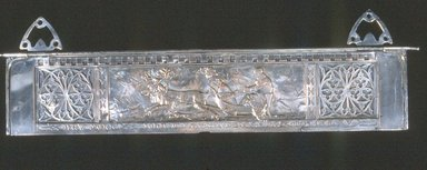John Matthews. <em>Bas-relief Panel from Soda Fountain</em>, ca. 1865. Silver-plate on copper and brass, Other (Height of panel): 6 1/2 x 31 3/4 in. (16.5 x 80.6 cm). Brooklyn Museum, Gift of Wunsch Foundation, Inc., 1990.155.2. Creative Commons-BY (Photo: Brooklyn Museum, CUR.1990.155.2.jpg)