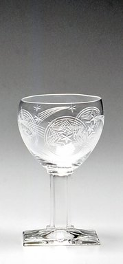 A.H. Heisey & Company (1896-1957). <em>Wine Glass</em>, ca. 1930. Glass, 4 3/8 x 2 9/16 x 2 9/16 in. Brooklyn Museum, Gift of Jacques Caussin, 1990.188.3. Creative Commons-BY (Photo: Brooklyn Museum, CUR.1990.188.3.jpg)