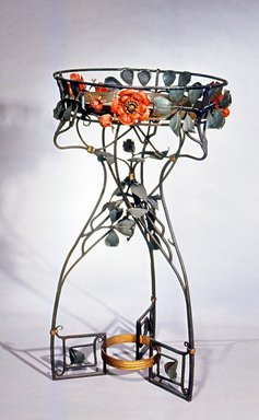 <em>Plant Stand</em>, ca. 1905. Painted iron, 44 1/4 x 25 x 25 in.  (112.4 x 63.5 x 63.5 cm). Brooklyn Museum, Gift of Mr. and Mrs. Bruce M. Newman, 1990.230.2. Creative Commons-BY (Photo: Brooklyn Museum, CUR.1990.230.2.jpg)