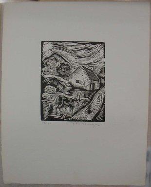John B. Flannagan (American, 1895-1942). <em>Goat on the Farm</em>, n.d. Woodcut on wove paper, Image: 4 15/16 x 4 in. (12.6 x 10.2 cm). Brooklyn Museum, Gift of Gertrude W. Dennis, 1991.153.15 (Photo: Brooklyn Museum, CUR.1991.153.15.jpg)