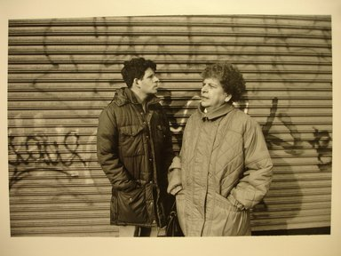 John Milisenda (American, born 1947). <em>My Mother and Brother</em>, March 10, 1990. Gelatin silver photograph, sheet: 8 × 10 in. (20.3 × 25.4 cm). Brooklyn Museum, Gift of the artist, 1991.17.2. © artist or artist's estate (Photo: Brooklyn Museum, CUR.1991.17.2.jpg)