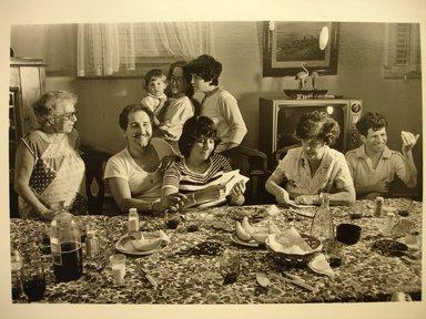 John Milisenda (American, born 1947). <em>My Family</em>, August 22, 1990. Gelatin silver photograph, sheet: 8 × 10 in. (20.3 × 25.4 cm). Brooklyn Museum, Gift of the artist, 1991.17.3. © artist or artist's estate (Photo: Brooklyn Museum, CUR.1991.17.3.jpg)