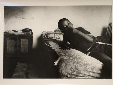 Helen M. Stummer (American, born 1936). <em>Tanya's Nephew</em>, 1985; Printed 1990. Gelatin silver photograph, sheet: 10 7/8 x 13 7/8 in. Brooklyn Museum, Gift of the artist, 1991.18.1. © artist or artist's estate (Photo: Brooklyn Museum, CUR.1991.18.1.jpg)