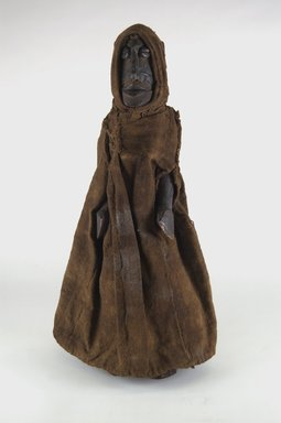 Bobo. <em>Figure of a Female</em>, early 20th century. Wood, cloth, cowrie shell, metal, 14 1/4 x 4 x 4 in. (36.2 x 10.2 x 10.2 cm). Brooklyn Museum, Gift of Eugene and Harriet Becker, 1991.226.2. Creative Commons-BY (Photo: Brooklyn Museum, CUR.1991.226.2_front_PS5.jpg)
