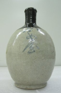 <em>Sake Bottle</em>, 19th century. Ceramic, height: 10 in. Brooklyn Museum, Gift of the Estate of Charles A. Brandon, 1991.74.28. Creative Commons-BY (Photo: Brooklyn Museum, CUR.1991.74.28_overall.jpg)