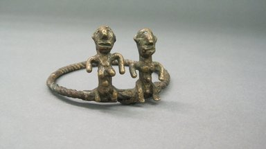 Bwa. <em>Divination Rings</em>, late 19th-early 20th century. Copper alloy, 3 1/4 in. (8.3 cm). Brooklyn Museum, Gift of Ruth Lippman, 1992.137.2. Creative Commons-BY (Photo: Brooklyn Museum, CUR.1992.137.2.jpg)