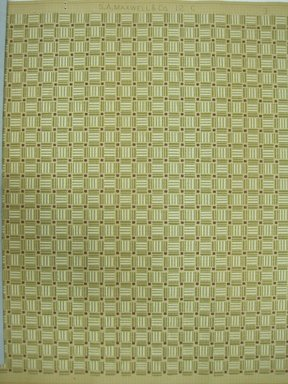 "S. A. Maxwell Company. <em>Wallpaper</em>, first half of 20th century. Printed paper, Width: 19 1/2"". Brooklyn Museum, Gift of Edwin Ward Bitter, Robert Bitter, Mark Bitter, and Therese Bitter Cook, 1992.153.45a-b (Photo: Brooklyn Museum, CUR.1992.153.45.jpg)"