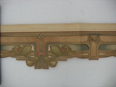S. A. Maxwell Company. <em>Wallpaper Frieze Paper</em>, first half of 20th century. Printed paper Brooklyn Museum, Gift of Edwin Ward Bitter, Robert Bitter, Mark Bitter, and Therese Bitter Cook, 1992.153.64a-b (Photo: Brooklyn Museum, CUR.1992.153.64.jpg)