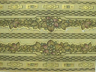 <em>Wallpaper Frieze Paper</em>. Printed paper, Vertical repeat: 9 3/4 inches. Brooklyn Museum, Gift of Edwin Ward Bitter, Robert Bitter, Mark Bitter, and Therese Bitter Cook, 1992.153.71 (Photo: Brooklyn Museum, CUR.1992.153.71_view.jpg)