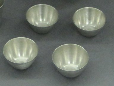 Marion Anderson Noyes (American, 1907-2002). <em>Miniature Bowl</em>. Pewter, 3/4 x 1 3/16 in. (1.9 x 3 cm). Brooklyn Museum, Gift of Marion Anderson Noyes, 1992.40.21. Creative Commons-BY (Photo: Brooklyn Museum, CUR.1992.40.21.jpg)