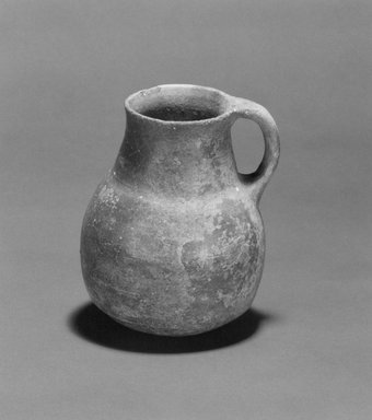 <em>Juglet</em>. Clay, 6 3/4 x 5 7/16 in. (17.1 x 13.8 cm). Brooklyn Museum, Gift of Harvey A. Herbert, 1992.46.3. Creative Commons-BY (Photo: Brooklyn Museum, CUR.1992.46.3_NegID_L_1034_4_print_bw.jpg)