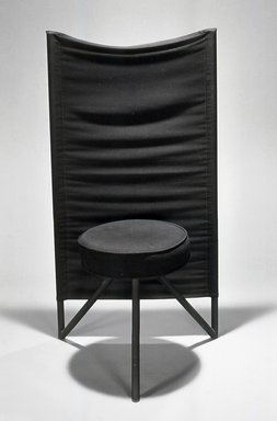 Philippe Starck (French, born 1949). <em>Miss Wirt Chair</em>. Metal, padding, fabric Brooklyn Museum, Gift of Mark Isaacson, 1992.92.1. Creative Commons-BY (Photo: Brooklyn Museum, CUR.1992.92.1.jpg)