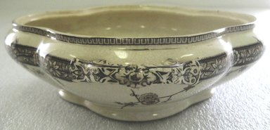 T. Furnival & Sons Elder Road. <em>Tureen with Lid; Chantilly Pattern</em>, 1871-1890. Glazed earthenware with transfer printed decoration, tureen: 2 3/4 x 11 x 9 1/4 in. (7.0 x 28.0 x 23.5 cm). Brooklyn Museum, Gift of Paul F. Walter, 1993.209.154a-b. Creative Commons-BY (Photo: Brooklyn Museum, CUR.1993.209.154a.jpg)
